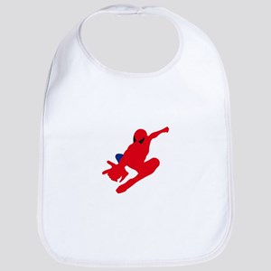 Spiderman pose art Bib