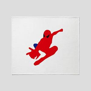 Spiderman pose art Throw Blanket