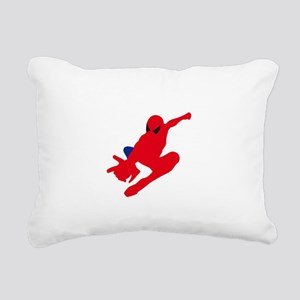Spiderman pose art Rectangular Canvas Pillow