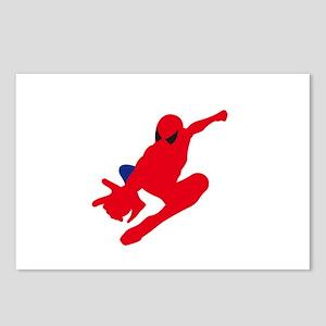 Spiderman pose art Postcards (Package of 8)