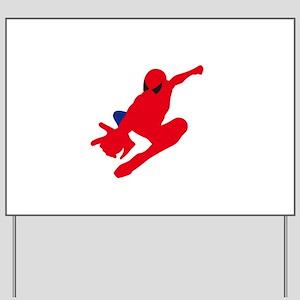 Spiderman pose art Yard Sign