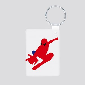 Spiderman pose art Keychains
