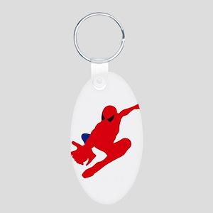 Spiderman pose art Keychains