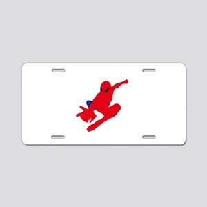 Spiderman pose art Aluminum License Plate