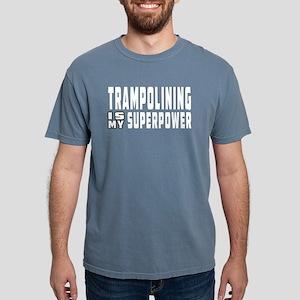 Trampolining Is My Superpower Women's Dark T-Shirt