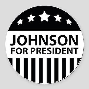 Johnson For President Round Car Magnet