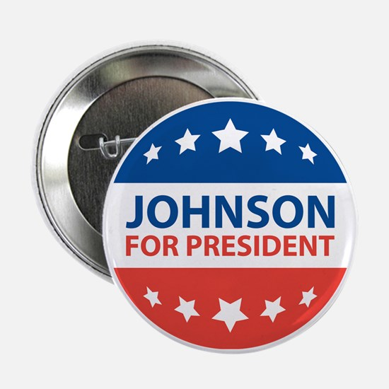 "Johnson For President 2.25"" Button"