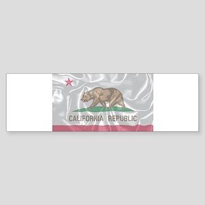 Silk Flag of the State of Californi Bumper Sticker