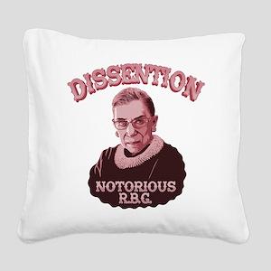 Dissention RBG Square Canvas Pillow