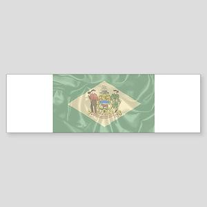 Silk Flag of Delaware Bumper Sticker