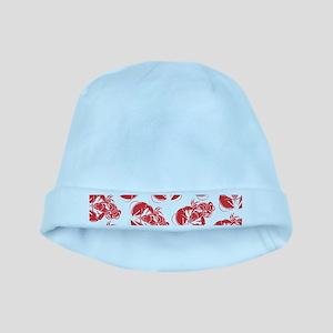 lobster print baby hat