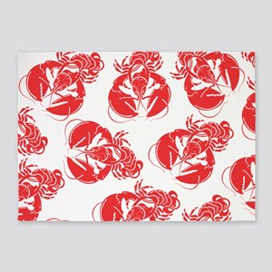lobster print 5'x7'Area Rug