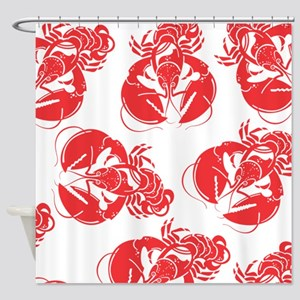 lobster print Shower Curtain