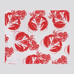 lobster print Throw Blanket