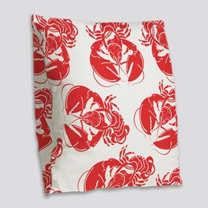 lobster print Burlap Throw Pillow