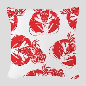 lobster print Woven Throw Pillow
