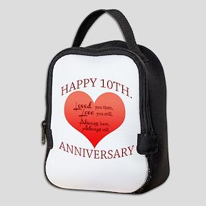 10th. Anniversary Neoprene Lunch Bag