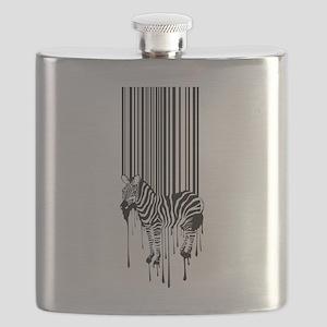 Barcode zebra background Flask