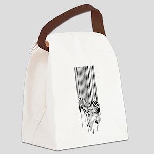 Barcode zebra background Canvas Lunch Bag