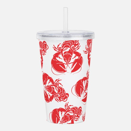 lobster print Acrylic Double-wall Tumbler