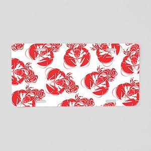 lobster print Aluminum License Plate