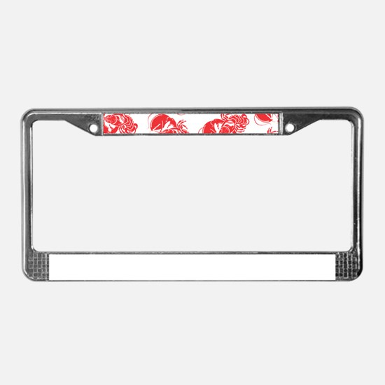 lobster print License Plate Frame