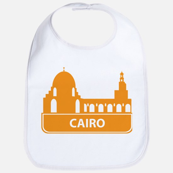 National landmark Cairo silhouette Bib