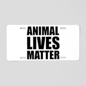 Animal Lives Matter Aluminum License Plate