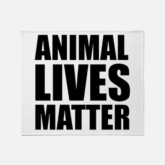 Animal Lives Matter Throw Blanket