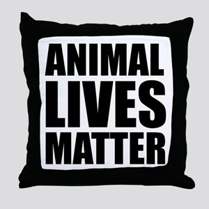Animal Lives Matter Throw Pillow