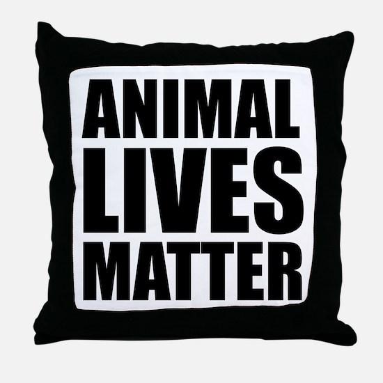 Animal Lives Matter Throw Pillow