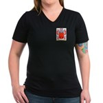 Tebbott Women's V-Neck Dark T-Shirt