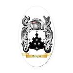 Teague Oval Car Magnet