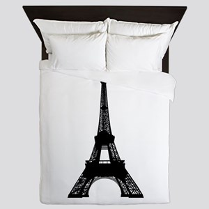 Eiffel tower Paris clip art Queen Duvet