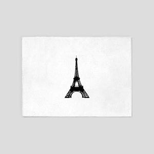 Eiffel tower Paris clip art 5'x7'Area Rug