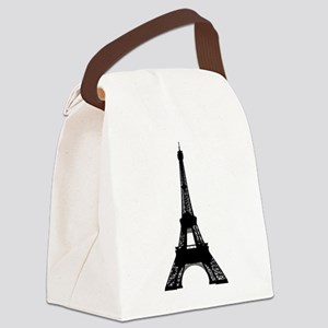 Eiffel tower Paris clip art Canvas Lunch Bag