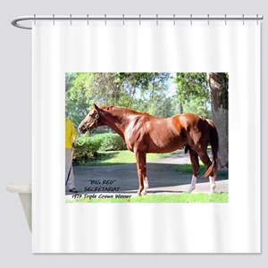 "SECRETARIAT ""Big Red"" Shower Curtain"