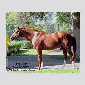 "SECRETARIAT ""Big Red"" Throw Blanket"