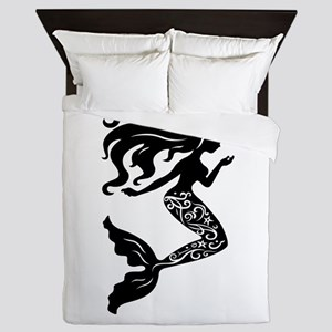 Mermaid silhouette design Queen Duvet