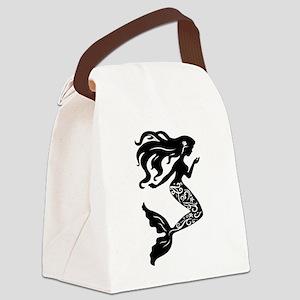 Mermaid silhouette design Canvas Lunch Bag