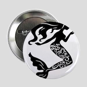 "Mermaid silhouette design 2.25"" Button"