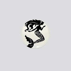 Mermaid silhouette design Mini Button