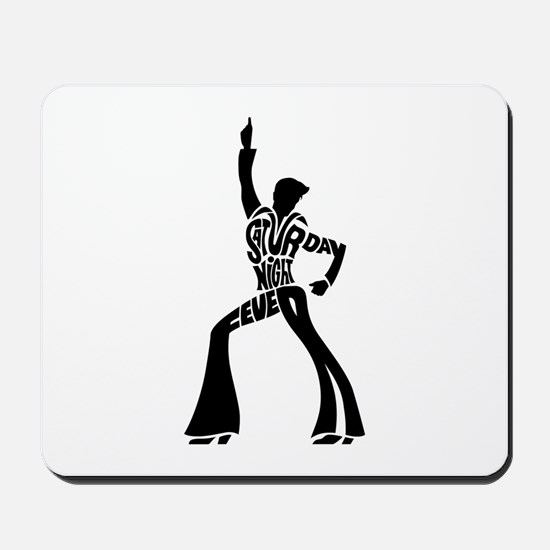 Saturday night fever dancer Mousepad