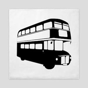 Double decker bus Queen Duvet