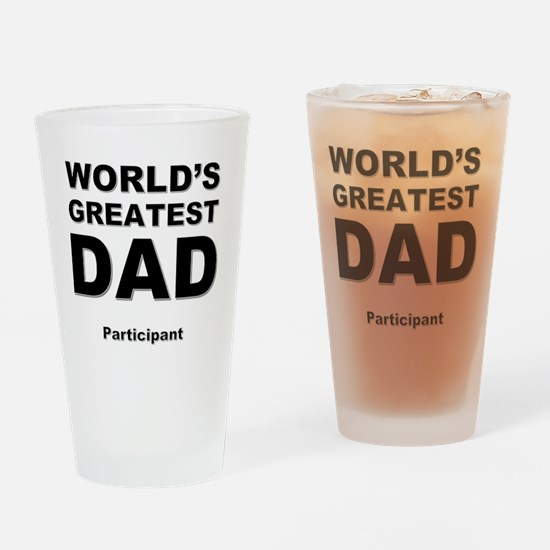 Cute Worlds greatest dad Drinking Glass