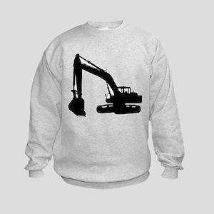 Dump truck excavator Kids Sweatshirt