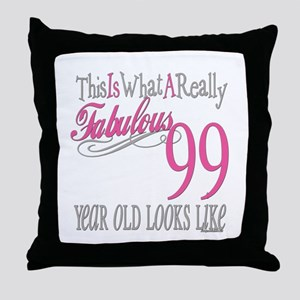 99th Birthday Gift Throw Pillow