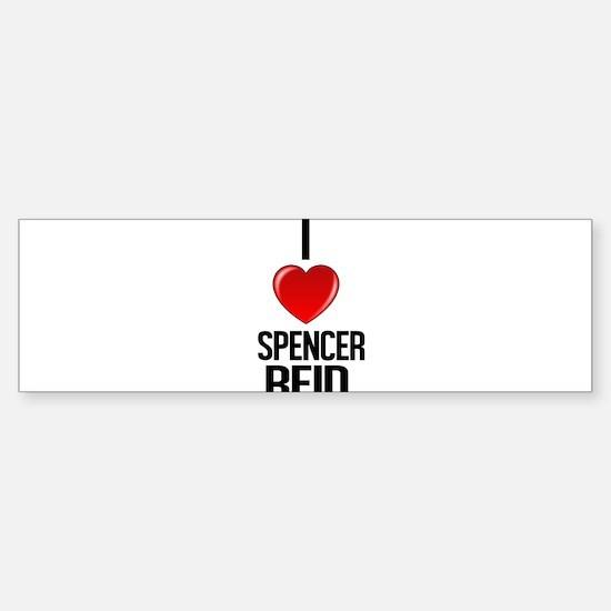 I heart Spencer Reid Bumper Bumper Bumper Sticker