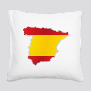 National territory and flag S Square Canvas Pillow