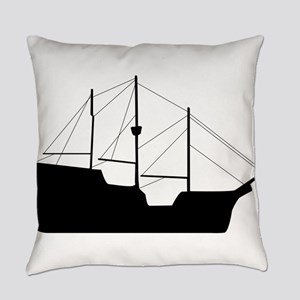 Sailboat silhouette art Everyday Pillow